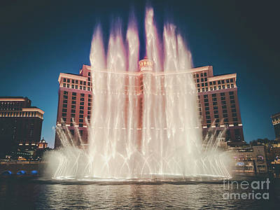 Photograph - Bellagio Fountains by Bryan Mullennix