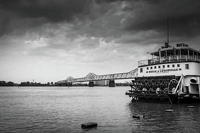 Abstract Sailboats - Belle of Louisville by Alexey Stiop