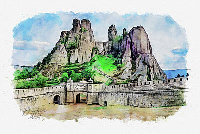 Painting - Belogradchik Fortress by Dreamframer Art