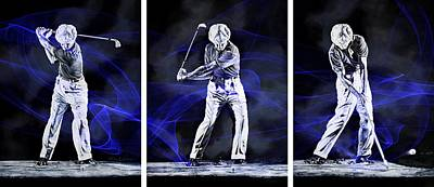 Recently Sold - Sports Royalty-Free and Rights-Managed Images - Ben Hogan Swing Energy by Hanne Lore Koehler