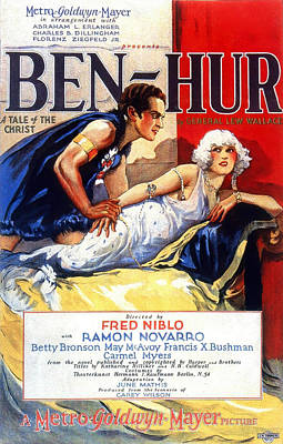 Mixed Media Royalty Free Images - Ben-Hur 4, with Ramon Novarro and Betty Bronson, 1925 Royalty-Free Image by Stars on Art