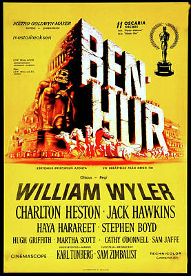 Royalty-Free and Rights-Managed Images - Ben Hur movie poster 1959 by Stars on Art