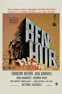 Mixed Media Royalty Free Images - Ben-Hur, with Charlton Heston and Jack Hawkins, 1959 Royalty-Free Image by Stars on Art