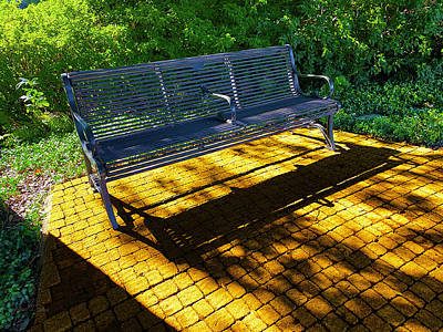 Photograph - Bench At The End of The Yellow Brick Road by Robert J Sadler