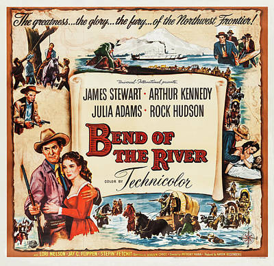 Royalty-Free and Rights-Managed Images - Bend of the River, with James Stewart and Rock Hudson, 1952 by Stars on Art