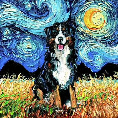 Painting - Bernese Mountain Dog by Aja Trier