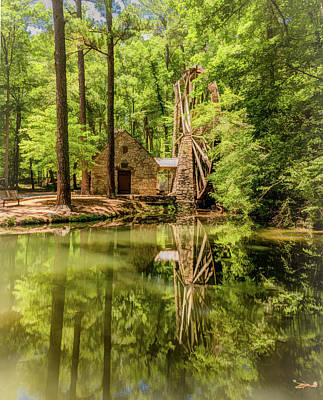 Photograph - Berry College Grist Mill, Vertical by Marcy Wielfaert
