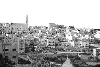 Kitchen Mark Rogan Rights Managed Images - Bethlehem City in Mid 20th Century Royalty-Free Image by Munir Alawi