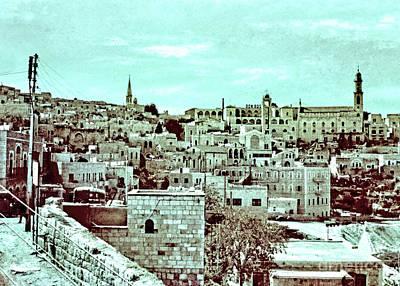 Coy Fish Michael Creese Paintings - Bethlehem in 1963 in Colors by Munir Alawi