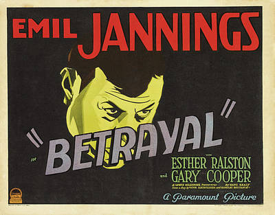 Royalty-Free and Rights-Managed Images - Betrayal, with Emil Jannings and Esther Ralston, 1929 by Stars on Art