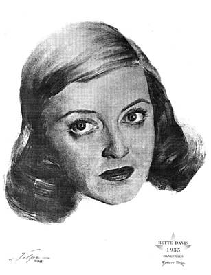 Drawings Royalty Free Images - Bette Davis 1935 Royalty-Free Image by Stars on Art