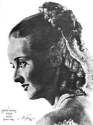 Drawings Royalty Free Images - Bette Davis 1938 Royalty-Free Image by Stars on Art