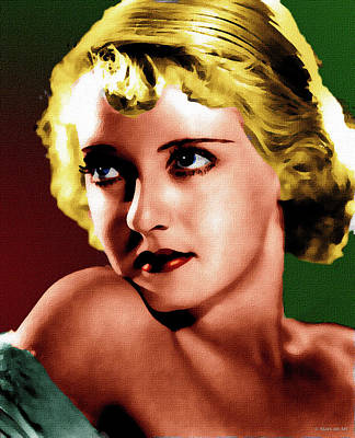 Royalty-Free and Rights-Managed Images - Bette Davis 2 by Stars on Art