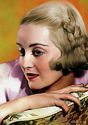Royalty-Free and Rights-Managed Images - Bette Davis illustration by Stars on Art