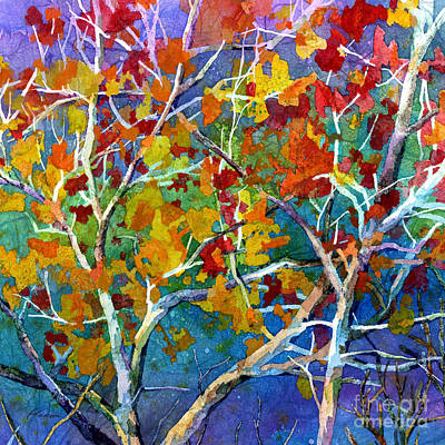 Abstract Trees Mandy Budan - Beyond the Woods - Orange by Hailey E Herrera