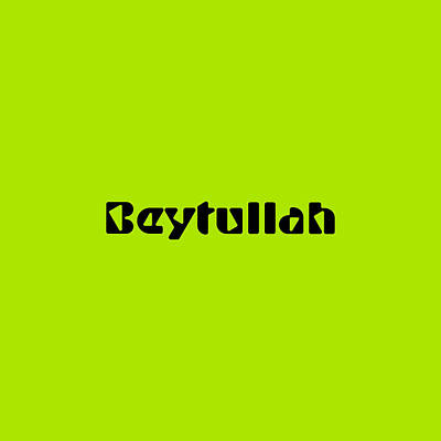 Royalty-Free and Rights-Managed Images - Beytullah by TintoDesigns