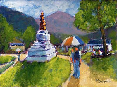 Painting - Bhutan by Mike Bergen
