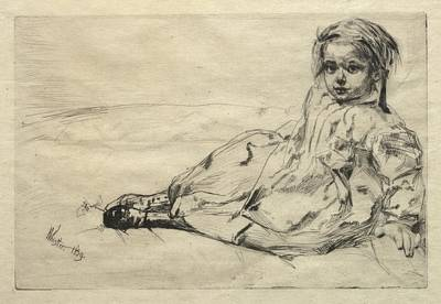 The Beach House - Bibi Valentin 1859 James McNeill Whistler  by MotionAge Designs