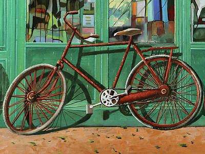 Royalty-Free and Rights-Managed Images - Bici Rossa Rotta by Guido Borelli
