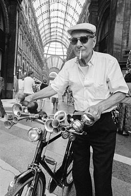 Rose - Bicycle Man, Milan Italy 1990 by Michael Chiabaudo