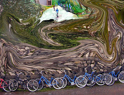 Photograph - Bicycles by Phyllis Stokes