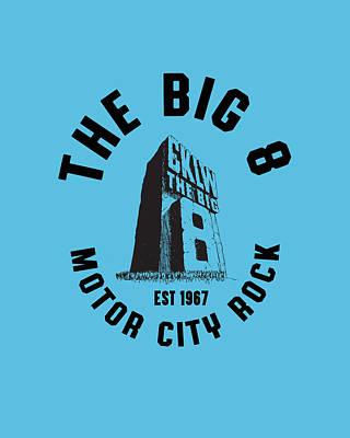 Photograph - Big 8 Motor City Rock black by Thomas Leparskas
