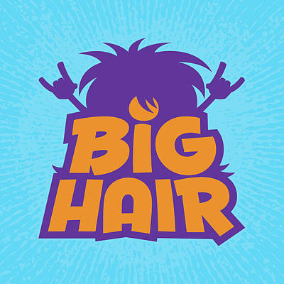 Royalty-Free and Rights-Managed Images - Big Hair Band Logo by John Schwegel