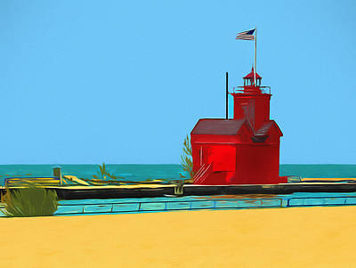 Lucille Ball - Big Red Light by Dan Sproul