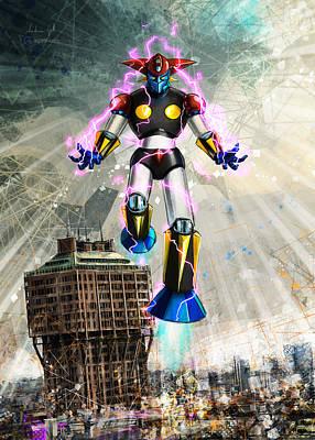 Digital Art - Big Robot Velasca Tower by Andrea Gatti