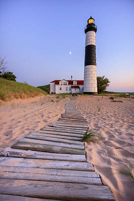 Landscapes Royalty-Free and Rights-Managed Images - Big Sable Point Lighthouse by Adam Romanowicz