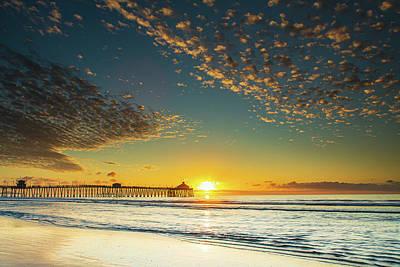 Photograph -  Sunset Imperial Beach Pier, San Diego. by John Morris