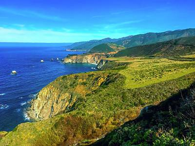 David Bowie - Big Sur Coastline by Christina Ford