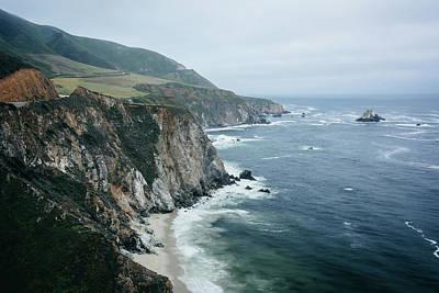 Travel Rights Managed Images - Big Sur Crashing Royalty-Free Image by Jon Bilous