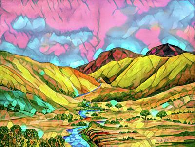 Mixed Media Royalty Free Images - Big Valley Mosaic  Royalty-Free Image by Linda Brody