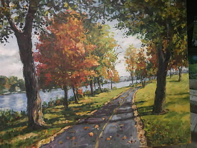 Zen Garden - Bike Path by Ingrid Dohm