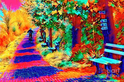 Aromatherapy Oils Royalty Free Images - Bike Path Rhine Royalty-Free Image by Rick Bragan