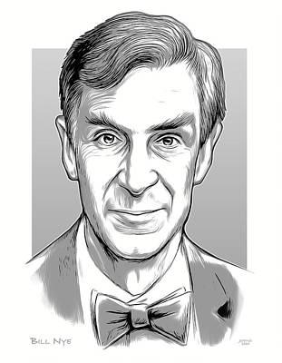 Design Pics - Bill Nye - line art by Greg Joens