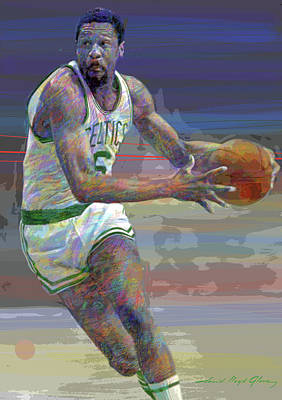 Impressionist Landscapes - Bill Russell Boston Celtics by David Lloyd Glover