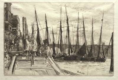 The Beach House - Billingsgate 1859 James McNeill Whistler by MotionAge Designs
