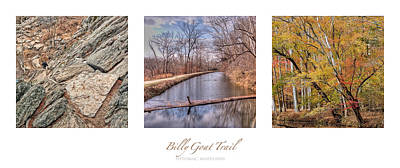 Abstract Airplane Art - Billy Goat Trail Landscape Triptych by Francis Sullivan