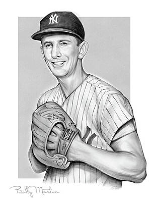 Drawings Royalty Free Images - Billy Martin Pencil Royalty-Free Image by Greg Joens