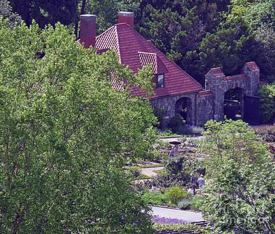Thomas Kinkade Royalty Free Images - Biltmore Garden Cottage Royalty-Free Image by Linda Fisler