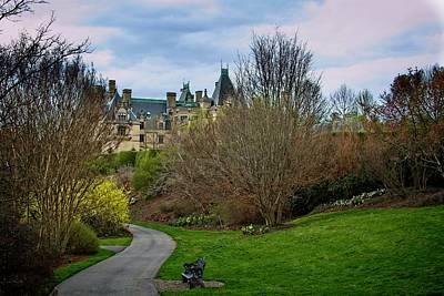 Photograph - Biltmore House Garden Path by Allen Nice-Webb