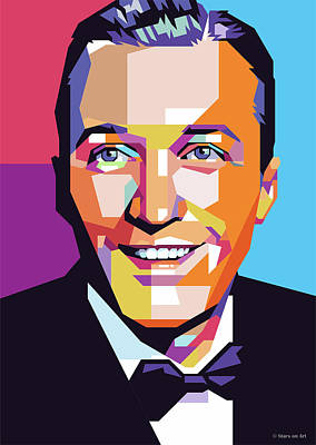 Digital Art - Bing Crosby as a young actor by Stars on Art