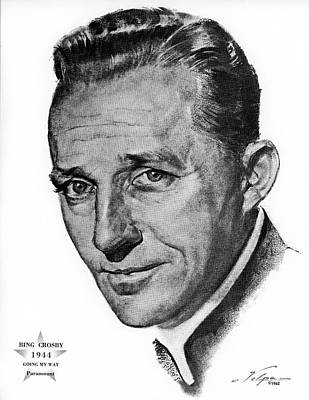 Drawings Royalty Free Images - Bing Crosby by Volpe Royalty-Free Image by Stars on Art