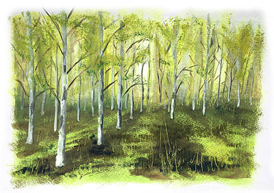 1-war Is Hell Royalty Free Images - Birch Forest Royalty-Free Image by Simon Kershaw