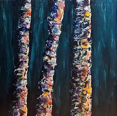 Painting - Birch Party by Terry Ann Morris