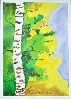 New Years - Birch Tree by Sonali Gangane