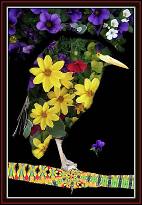 Animals Royalty-Free and Rights-Managed Images - Bird Of Flowers by Constance Lowery