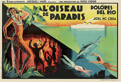 Mixed Media Royalty Free Images - Bird of Paradise, with Dolores Del Rio, 1932 Royalty-Free Image by Stars on Art